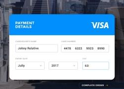 一款简洁的信用卡付款UI界面设计