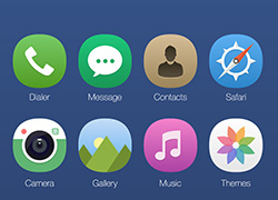 iOS8图标重构GUI全套图PNG高清透明图