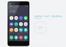 大圆角黑色主题手机UI设计