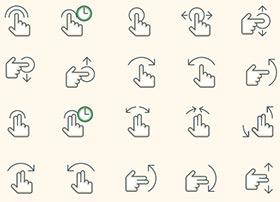APP设计师干货资源-15套手势图标免费拿去