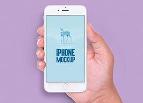 七种不同手势的iPhone6s模型下载