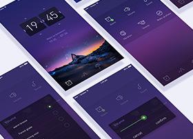 一款紫色手机界面主题设计UI欣赏