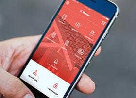 Application menu 红色APP菜单UI界面设计