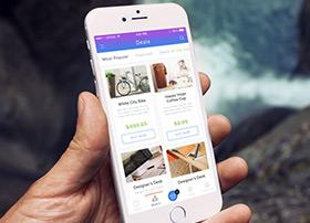 一款国外购物产品界面UI设计Deals
