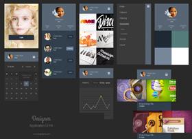 Portfolio App Design Ui扁平化APP UI素材