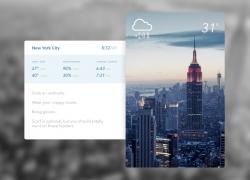 Daily APP天气UI界面设计欣赏