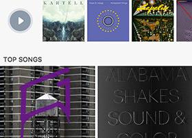 苹果iOS版音乐应用UI界面设计