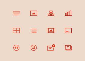 一组简洁直角icon图标psd文件下载