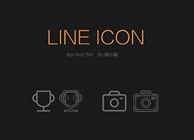 4px line icon设计欣赏