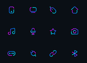 超炫丽风格的icon图标合集下载