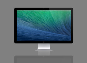 苹果显示器模型PSD文件下载