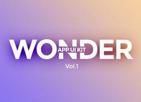 Wonder App UI Kit工具包PSD文件免费下载