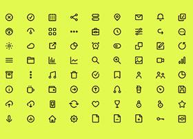 72个线条风格icon小图标免费下载