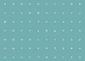 170个高质量的线框icon图标素材下载