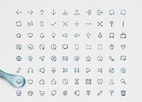 一组国内优秀的墨迹风格icon图标下载
