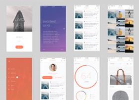 超完整Livo app ui模板 psd和sketch