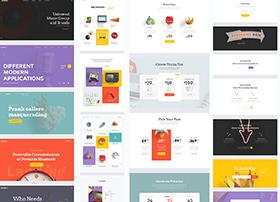 多套超时尚简约的网页UI模板包 psd,sketch下载
