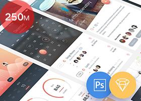 20多套免费优质的UI kit模板PSD sketch源文件下载