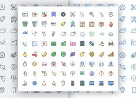 分享20款优秀免费的Icons图标合集sktech源文件下载