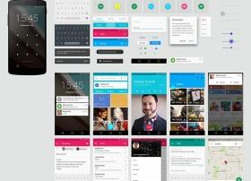 Android L GUI设计规范PSD源文件免费下载