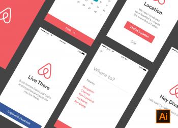 Airbnb app ui kit ai源文件下载