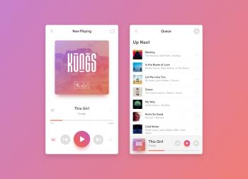 清新风格音乐播放器app界面 sketch源文件下载