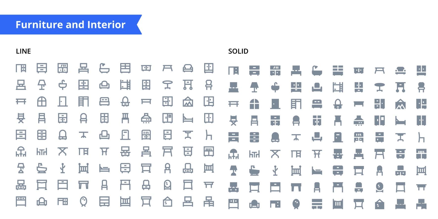 250M共计6000枚Material Design风格icon图标免费下载