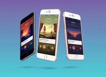 精美的iphone6展示模板PSD源文件下载