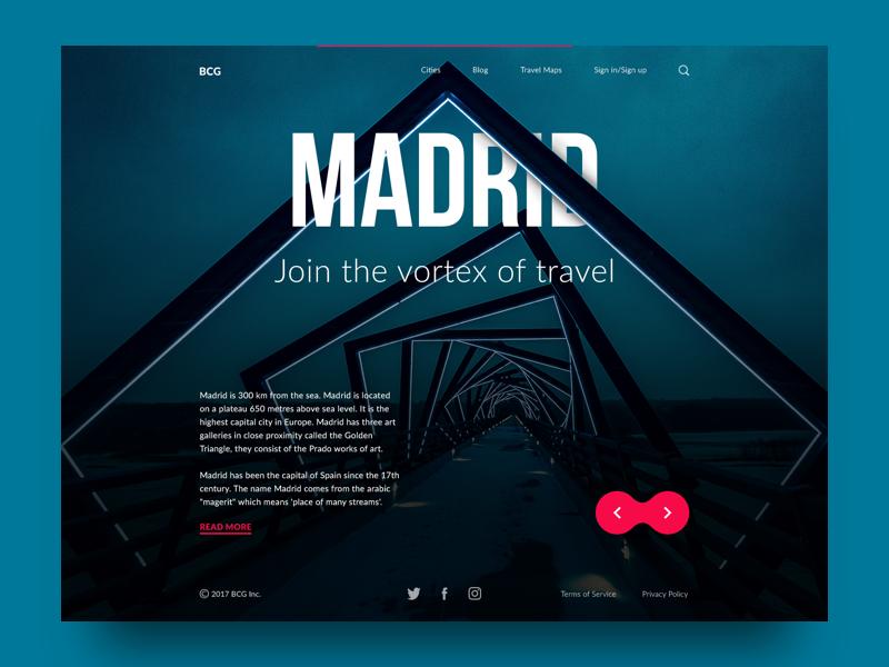 3张彩色迷幻风格的网页设计