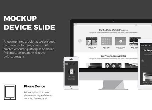 精致的黑色排版风格适合商务展示的PPT模板