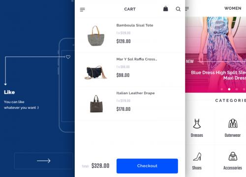 一组粉色时尚APP UI产品sketch源文件下载
