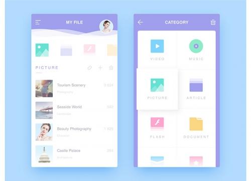 Dribbble上优秀的APP UI界面设计欣赏与选图原则—蓝色风格篇