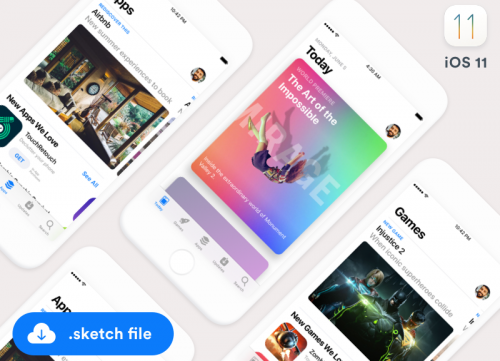 iOS11 App Store应用程序界面sketch源文件
