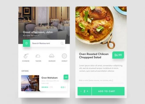 灵感 - 国外美女设计师的餐厅食谱类APP UI界面设计欣赏