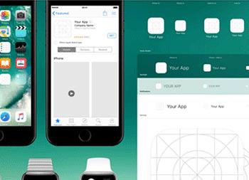 最新IOS系统图标模板规范 iOS 10 App Icon Template