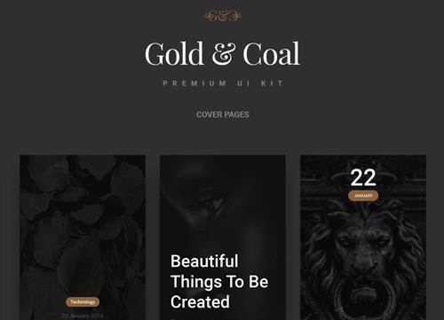时尚酷炫的黑金色贵族风格APP PSD源文件下载