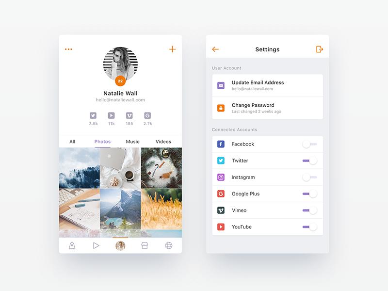 让你的灵感爆棚,一组APP个人中心UI界面设计(5)