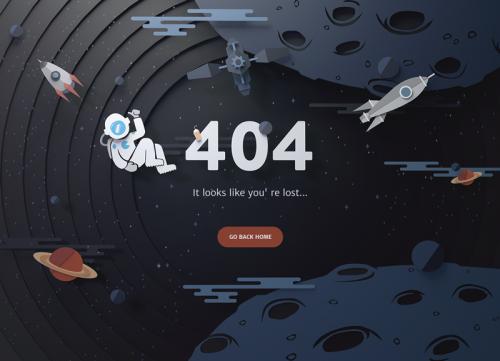 404界面UI也能设计的这么漂亮,太没天理了
