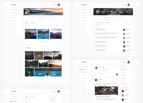 超简约网页设计及超全网页设计元素