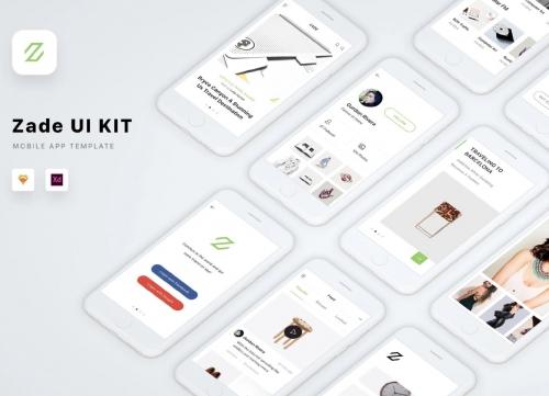 即时尚又简约的全套APP UI素材模板sketch和XD模板