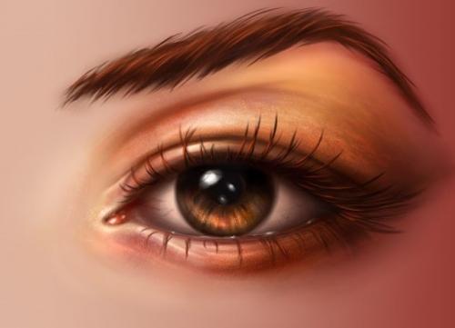 用photoshp绘制一双逼真动人的眼睛