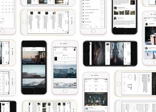 一组时尚简约的iOS UI Kit工具包sketch源文件下载