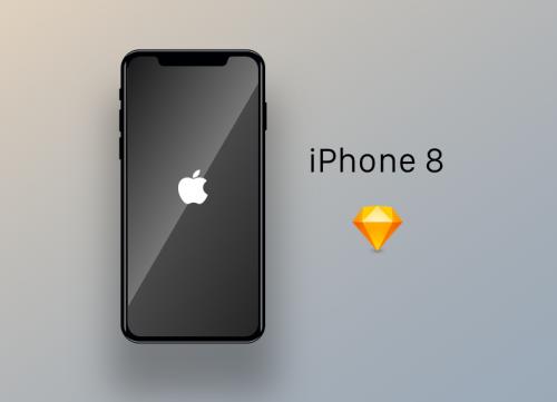 iphone8手机模型样式正面素材sketch文件