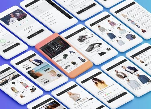 共20+简约时尚多彩的商城APP UI素材包合集psd源文件