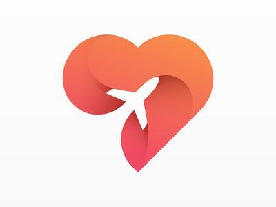 超有爱的LOGO图标设计,心型LOGO设计