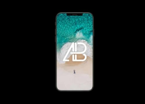 黑色iphone8手机模型样机素材psd源文件