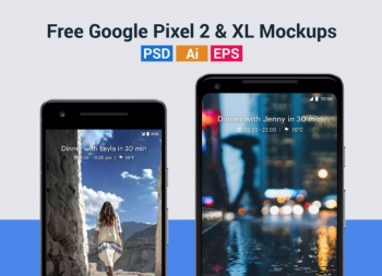 谷歌Pixel 2,Pixel XL样机模型PSD/AI格式