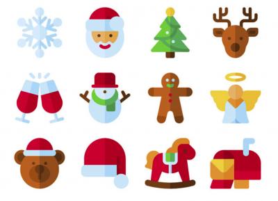 70个精致的圣诞节ICON图标素材SVG和PNG文件免费下载