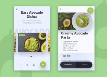 看看老外设计的美食和果蔬APP界面,有值得你学习的吗?