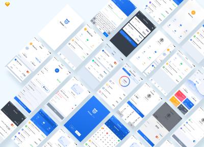 金融卡包、钱包(Card Pocket)App sketch、psd源文件下载